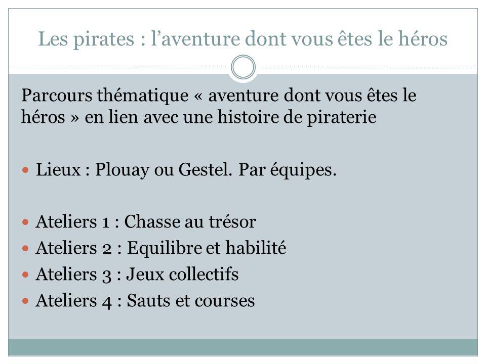 Les pirates : laventure dont vous êtes le héros Parcours thématique « aventure dont vous êtes le héros » en lien avec une histoire de piraterie Lieux