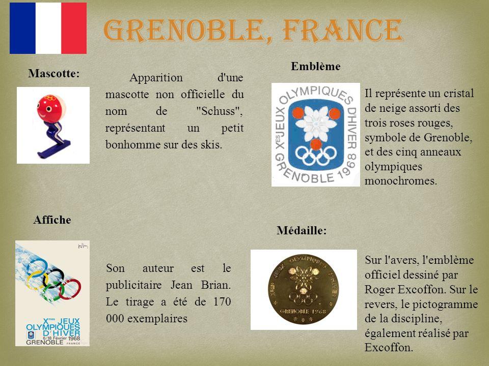 Grenoble, France Apparition d'une mascotte non officielle du nom de