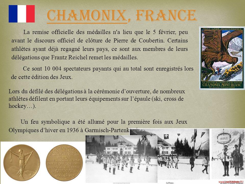 La remise officielle des médailles n'a lieu que le 5 février, peu avant le discours officiel de clôture de Pierre de Coubertin. Certains athlètes ayan