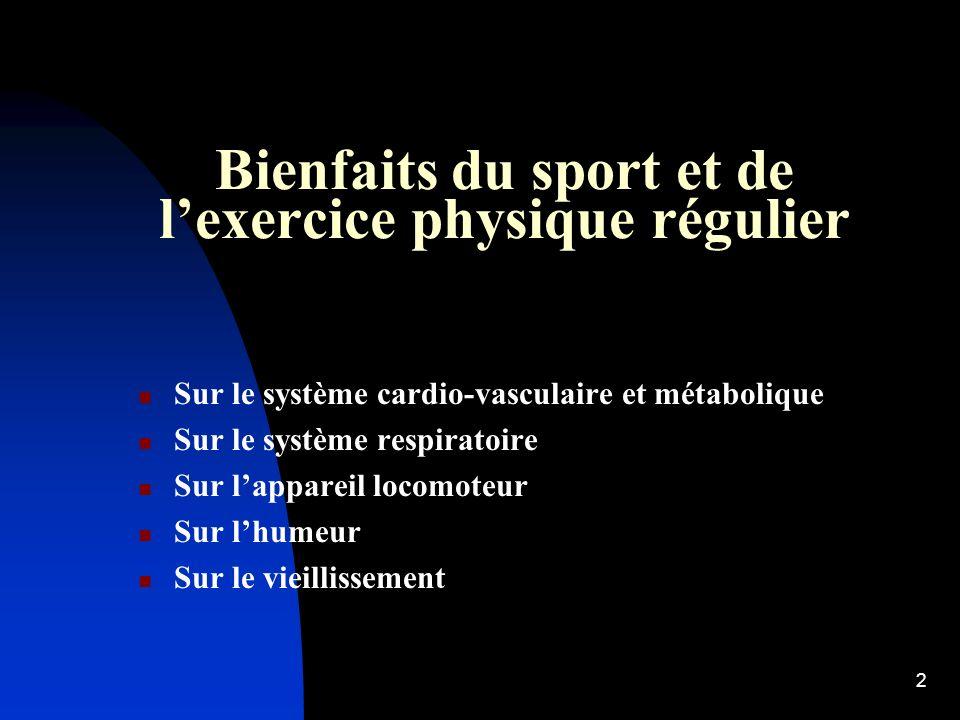 22 Le sport chez le cardiaque Pas de généralisation possible.