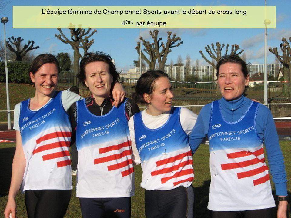 Léquipe féminine de Championnet Sports avant le départ du cross long 4 ème par équipe