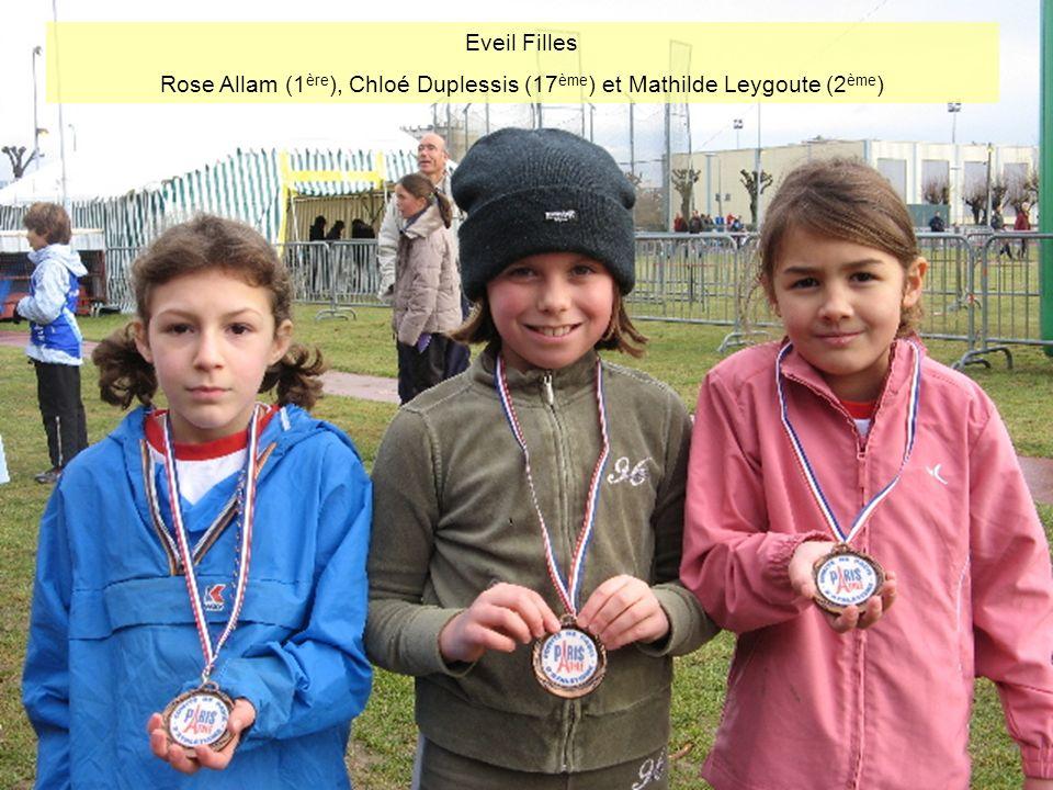 Eveil Filles Rose Allam (1 ère ), Chloé Duplessis (17 ème ) et Mathilde Leygoute (2 ème )