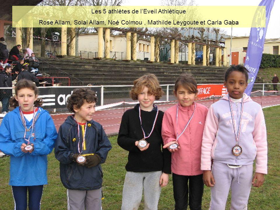 Podium de lEveil Athlétique Fille Mathilde Leygoute (2 ème ) et Rose Allam (1 ère ) pour un doublé de Championnet Sports.