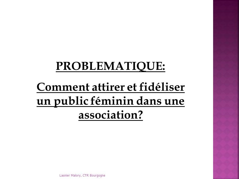 PROBLEMATIQUE: Comment attirer et fidéliser un public féminin dans une association? Lasnier Malory, CTR Bourgogne