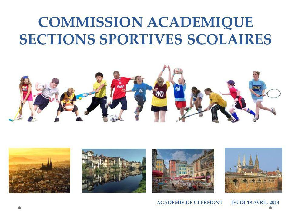 RECONDUCTIONS SECTIONS SPORTIVES SCOLAIRES POUR 2013 - 2014