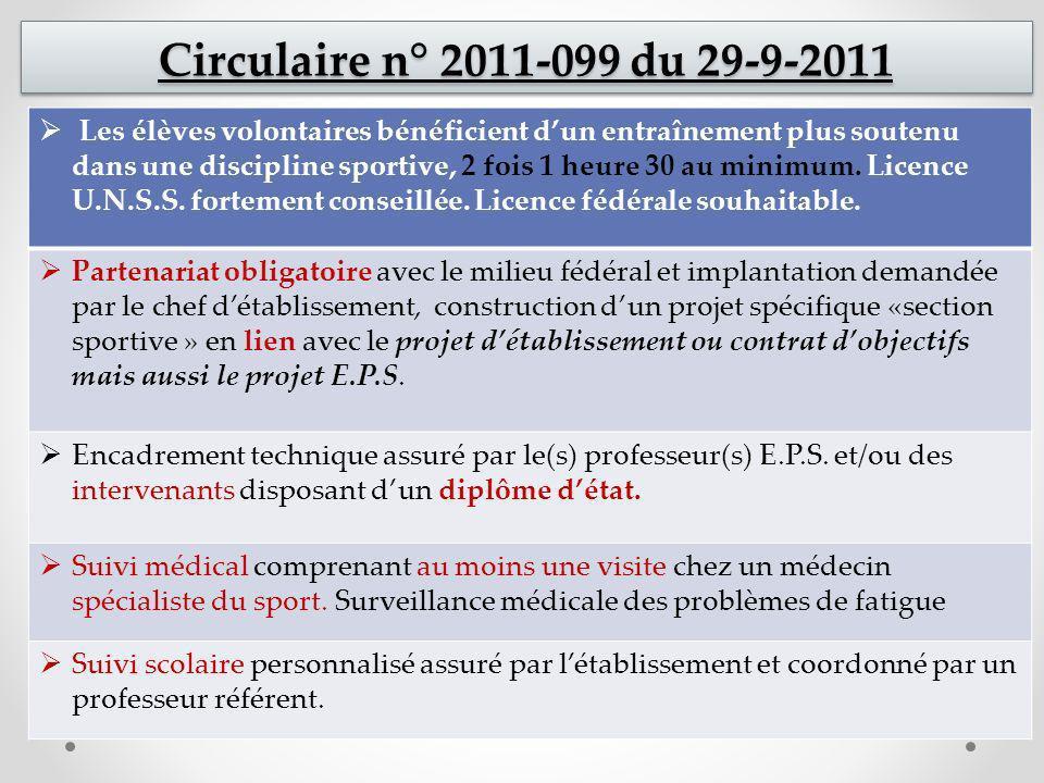 DEMANDES DE FERMETURE SECTION SPORTIVE SCOLAIRE ANNEE SCOLAIRE 2013 - 2014