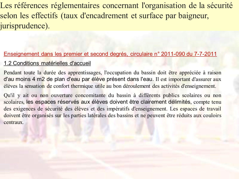 Enseignement dans les premier et second degrés, circulaire n° 2011-090 du 7-7-2011 1.2 Conditions matérielles d'accueil Pendant toute la durée des app