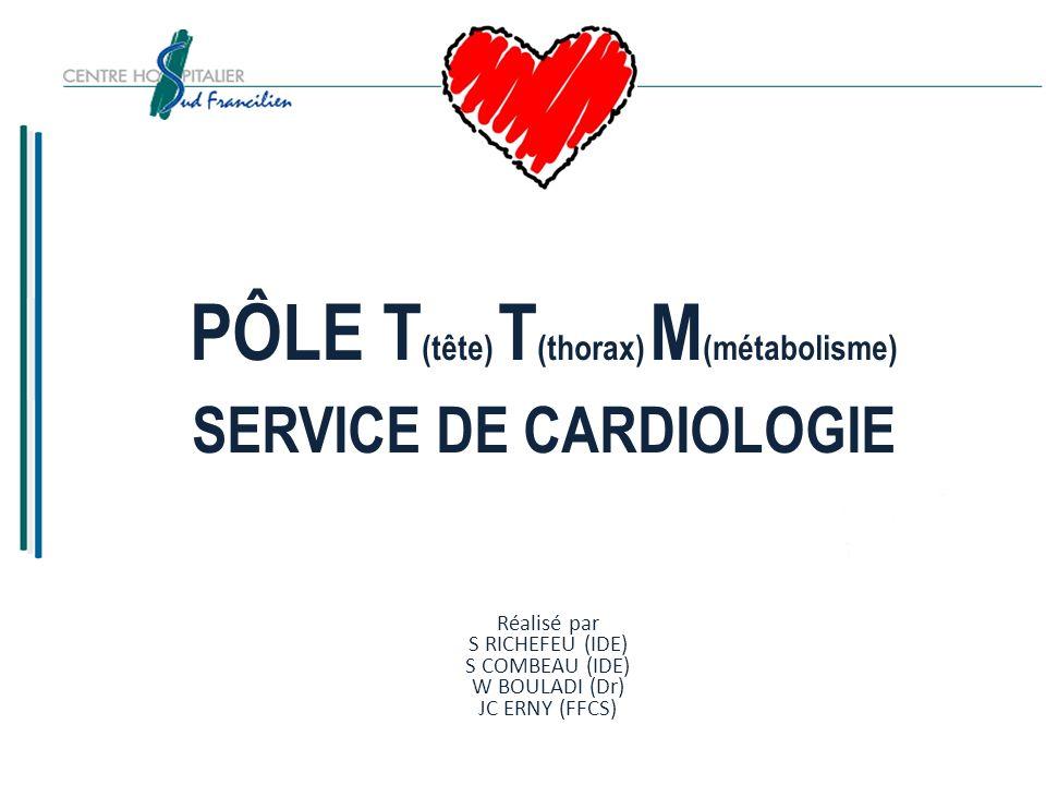 PÔLE T(tête) T(thorax) M(métabolisme) SERVICE DE CARDIOLOGIE JE PEUX SUIVRE MON TRAITEMENT 10)Comment contrôle-t-on lefficacité du traitement.