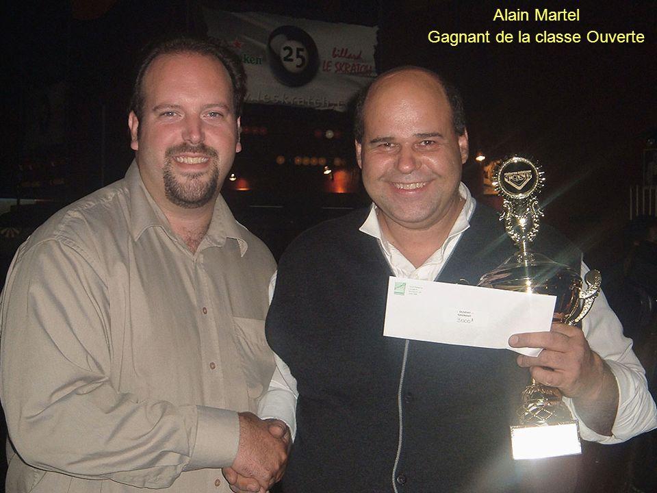 Alain Martel Gagnant de la classe Ouverte