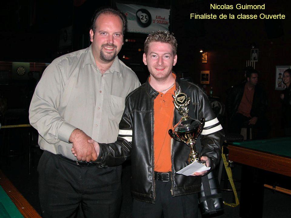 Nicolas Guimond Finaliste de la classe Ouverte