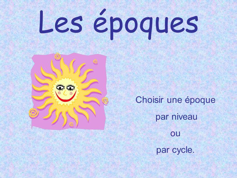 2004-2005 Les époques Septembre à décembre Les arts de la scène Février à juin