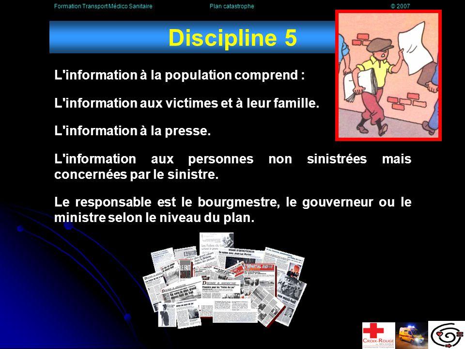 Discipline 4 La Protection Civile est un service qui dépend du Ministère de l Intérieur.