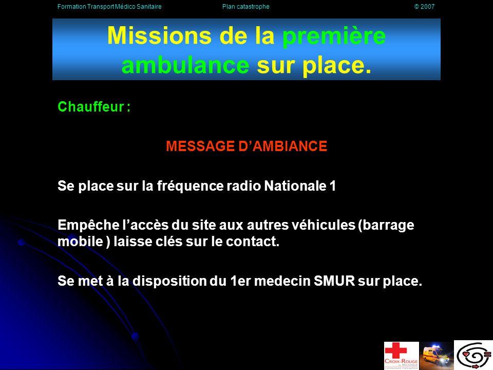Les sirènes SEVESO Formation Transport Médico Sanitaire Plan catastrophe © 2007