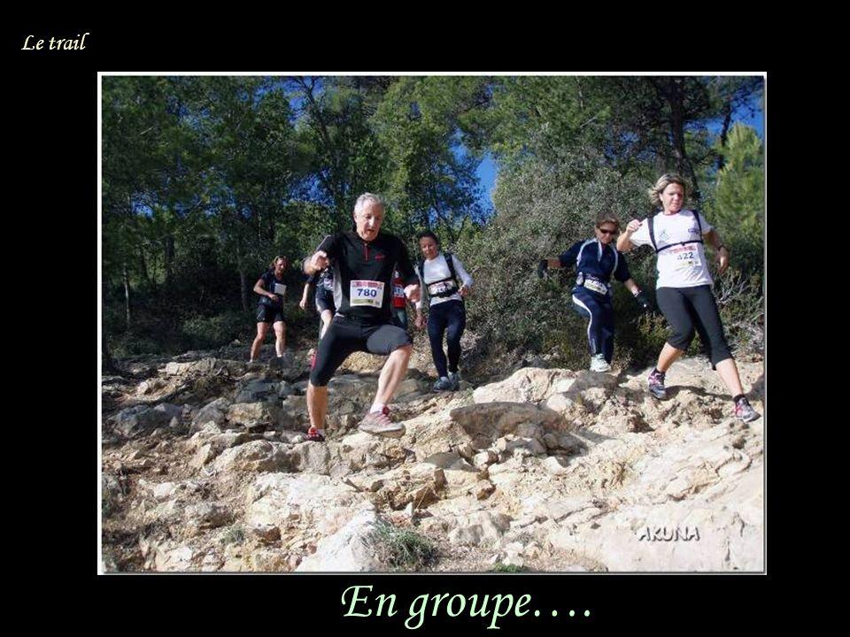 En groupe…. Le trail