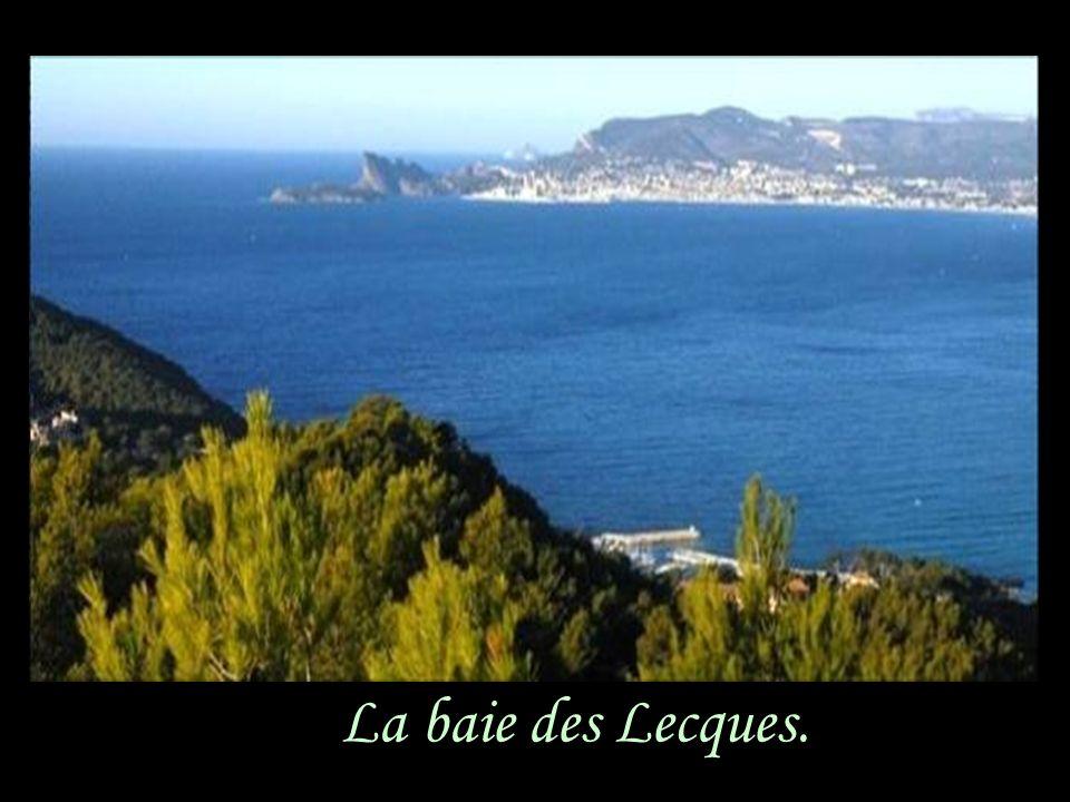 La baie des Lecques.