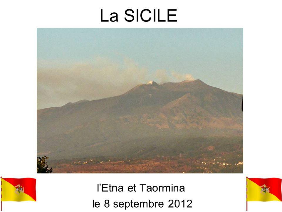 Lemblème de la Sicile : la « Trinacria » (trois pointes)