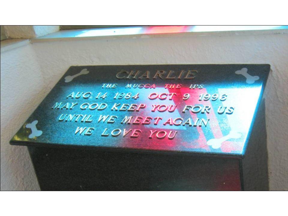 La chapelle à la mémoire de Charlie