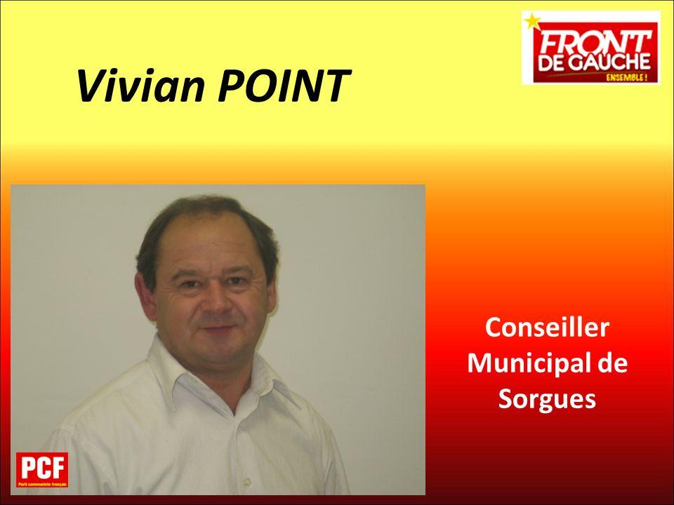 Conseiller Municipal de Sorgues Vivian POINT