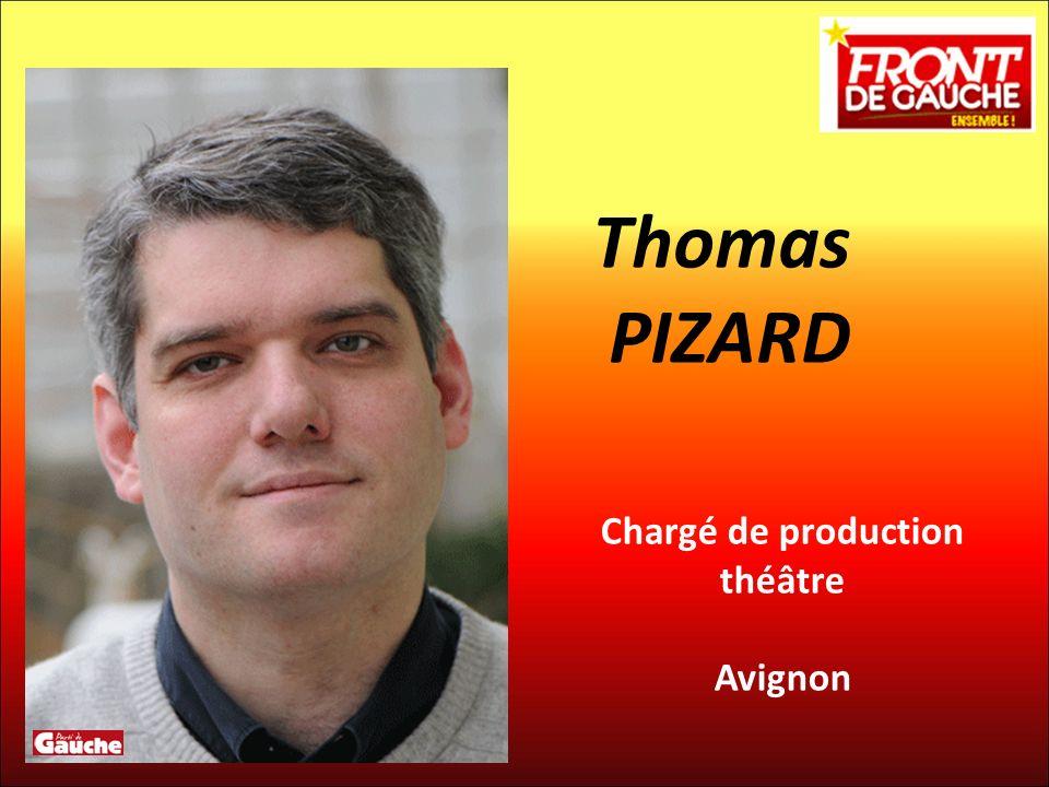 Chargé de production théâtre Avignon Thomas PIZARD