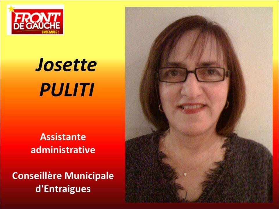 Assistante administrative Conseillère Municipale d Entraigues Josette PULITI