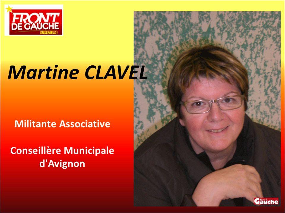 Militante Associative Conseillère Municipale d'Avignon Martine CLAVEL