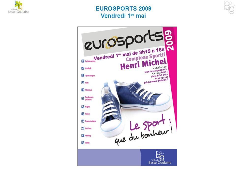 EUROSPORTS 2009 Vendredi 1 er mai
