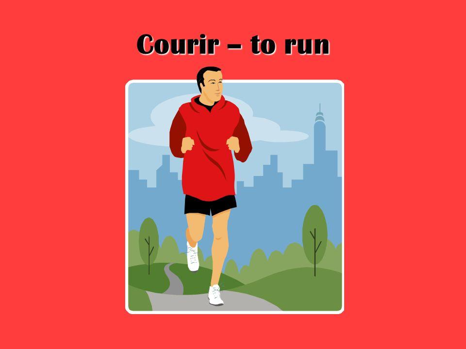 Courir – to run
