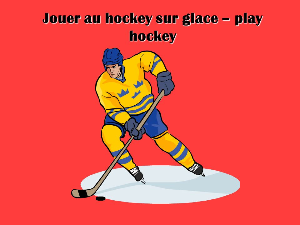 Jouer au hockey sur glace – play hockey