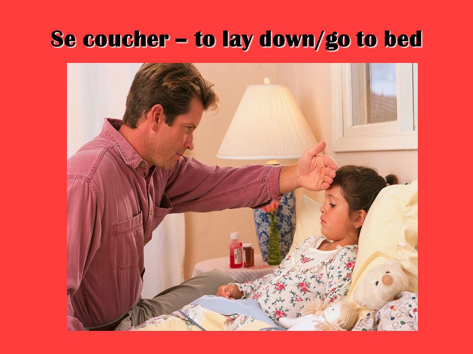 Se coucher – to lay down/go to bed