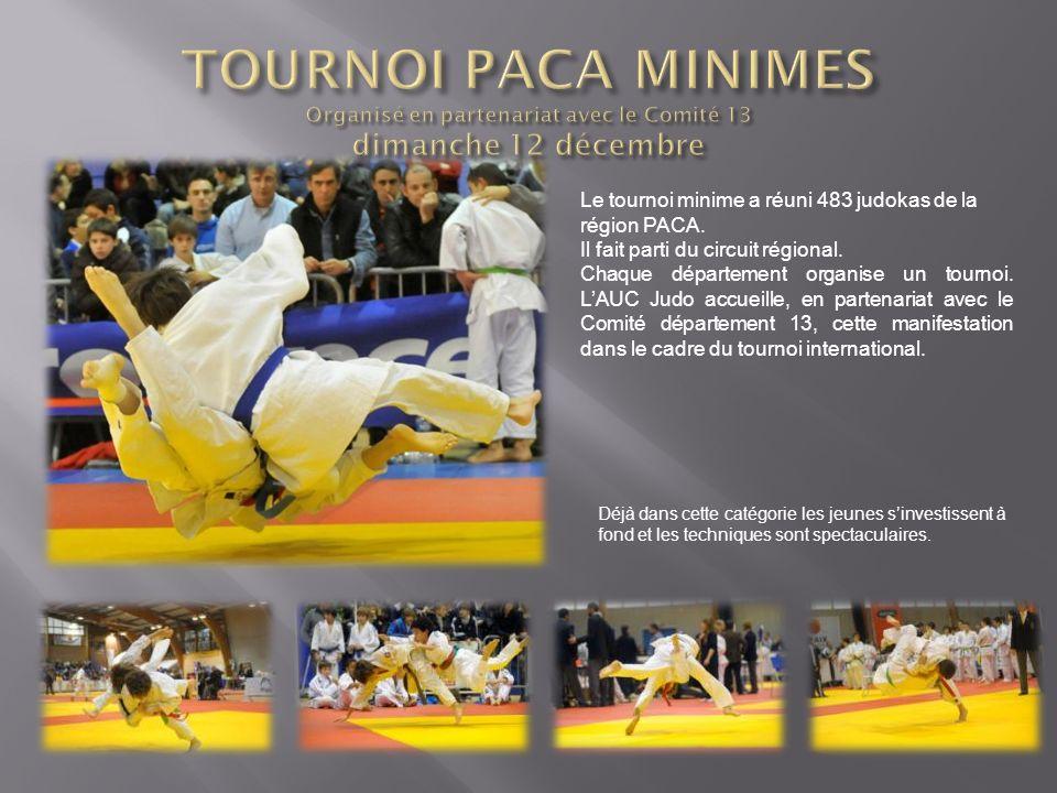 Le tournoi minime a réuni 483 judokas de la région PACA. Il fait parti du circuit régional. Chaque département organise un tournoi. LAUC Judo accueill