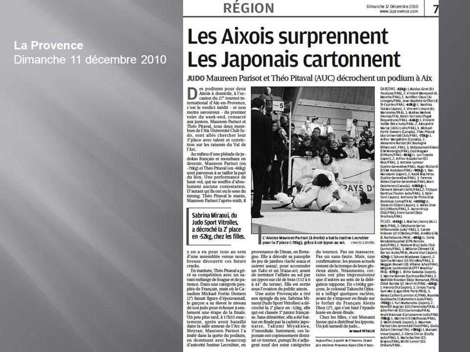 La Provence Dimanche 11 décembre 2010