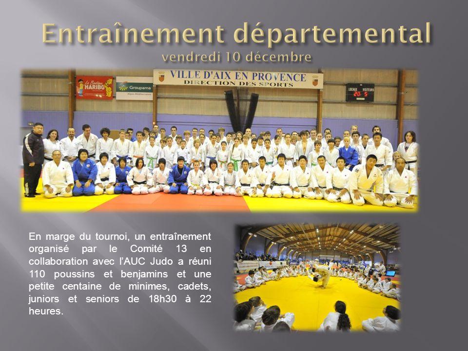 En marge du tournoi, un entraînement organisé par le Comité 13 en collaboration avec lAUC Judo a réuni 110 poussins et benjamins et une petite centain