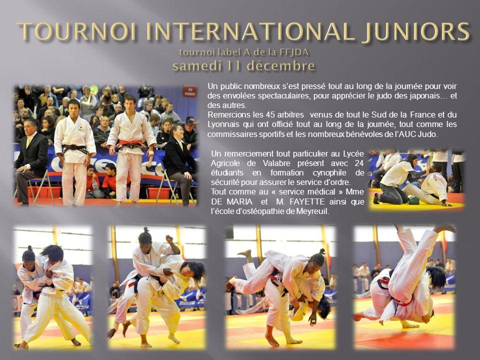 Un public nombreux sest pressé tout au long de la journée pour voir des envolées spectaculaires, pour apprécier le judo des japonais… et des autres. R