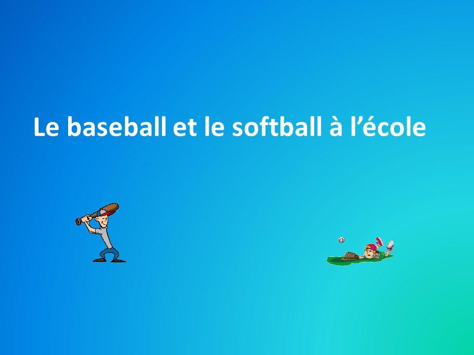 Le baseball et le softball à lécole
