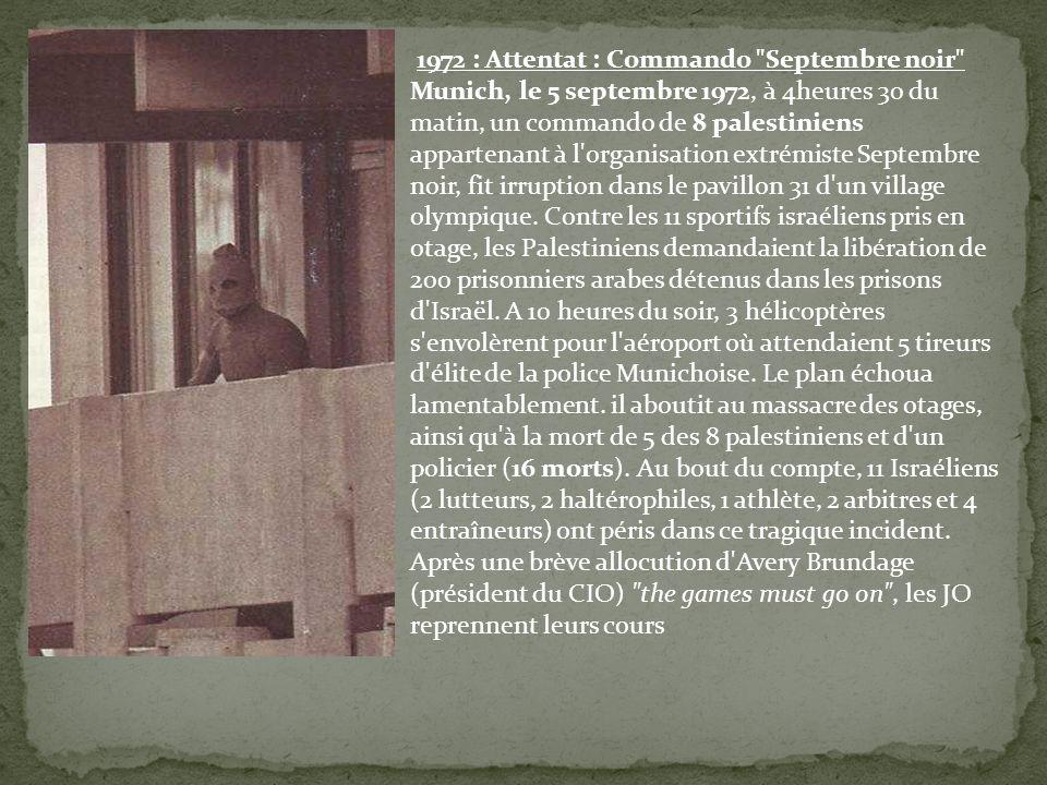 1972 : Attentat : Commando