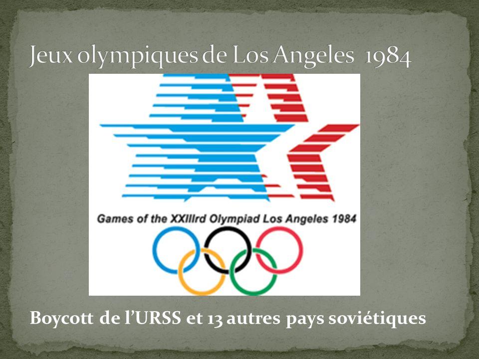 Boycott de lURSS et 13 autres pays soviétiques