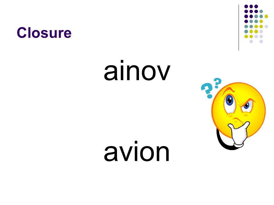 Closure ainov avion