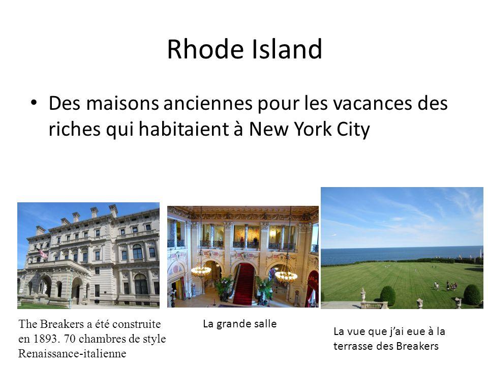 Rhode Island Des maisons anciennes pour les vacances des riches qui habitaient à New York City The Breakers a été construite en 1893.