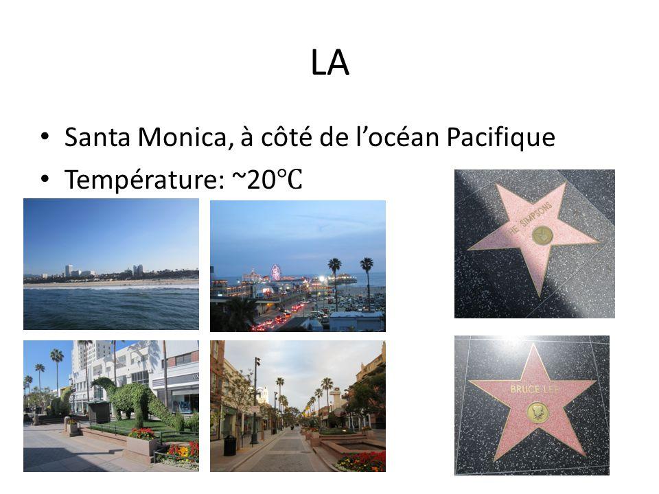 LA Santa Monica, à côté de locéan Pacifique Température: ~20