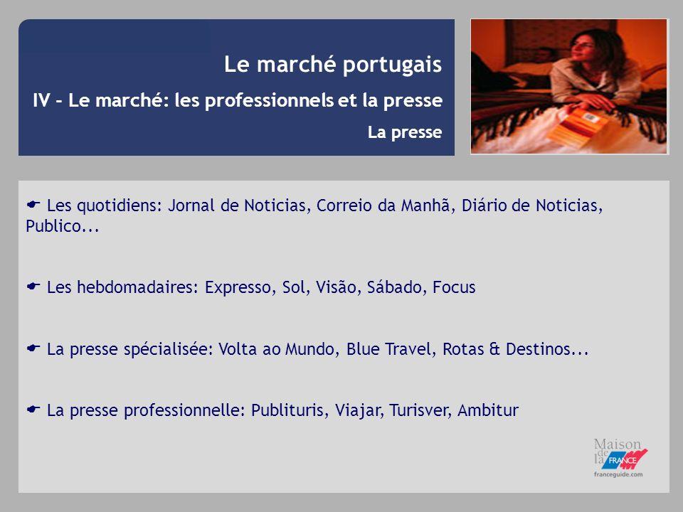 Le marché portugais IV - Le marché: les professionnels et la presse La presse Les quotidiens: Jornal de Noticias, Correio da Manhã, Diário de Noticias