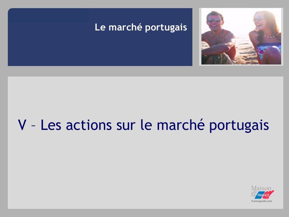 V – Les actions sur le marché portugais Le marché portugais