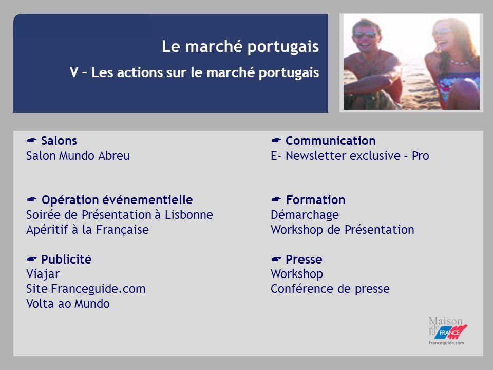 V – Les actions sur le marché portugais Salons Salon Mundo Abreu Opération événementielle Soirée de Présentation à Lisbonne Apéritif à la Française Pu