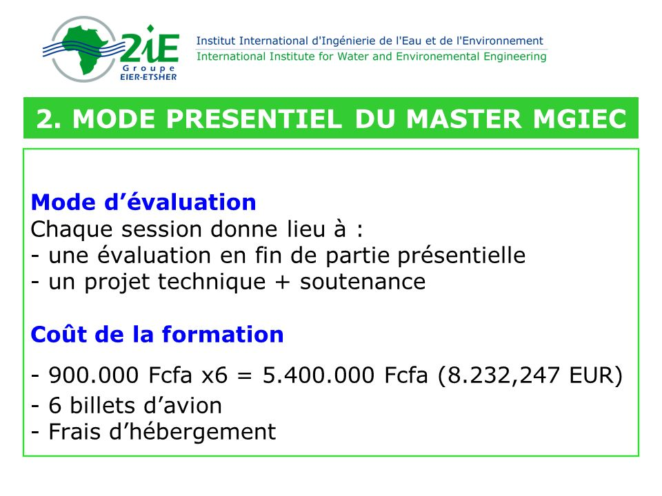 Merci pour lattention ! tofangui.kone@2ie-edu.org
