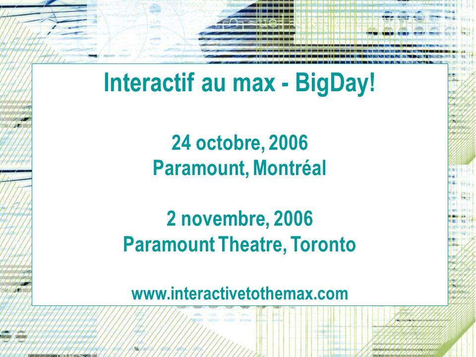 Interactif au max - BigDay.