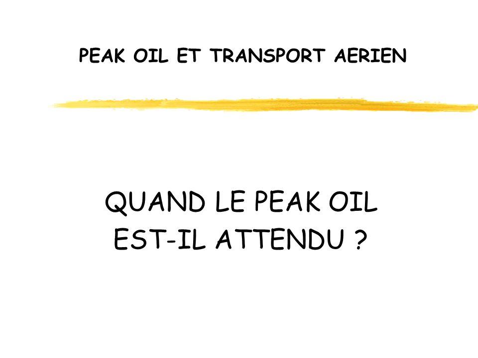 PEAK OIL ET TRANSPORT AERIEN QUAND LE PEAK OIL EST-IL ATTENDU