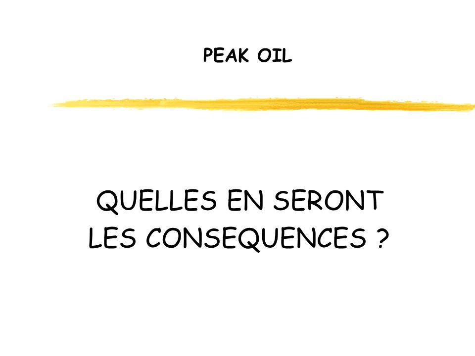 PEAK OIL QUELLES EN SERONT LES CONSEQUENCES