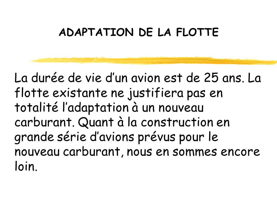 ADAPTATION DE LA FLOTTE La durée de vie dun avion est de 25 ans.