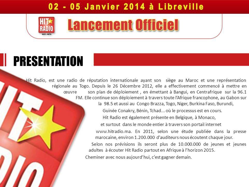 Hit Radio, est une radio de réputation internationale ayant son siège au Maroc et une représentation régionale au Togo. Depuis le 26 Décembre 2012, el