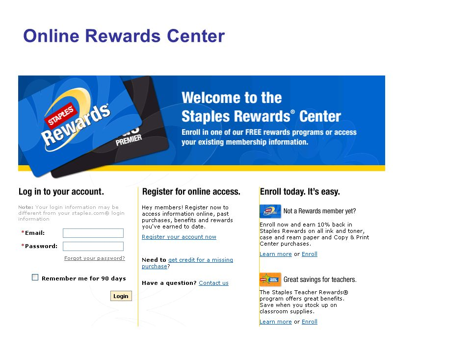 Online Rewards Center