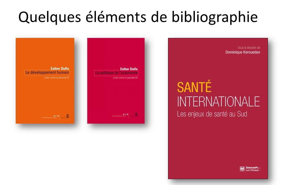 Quelques éléments de bibliographie